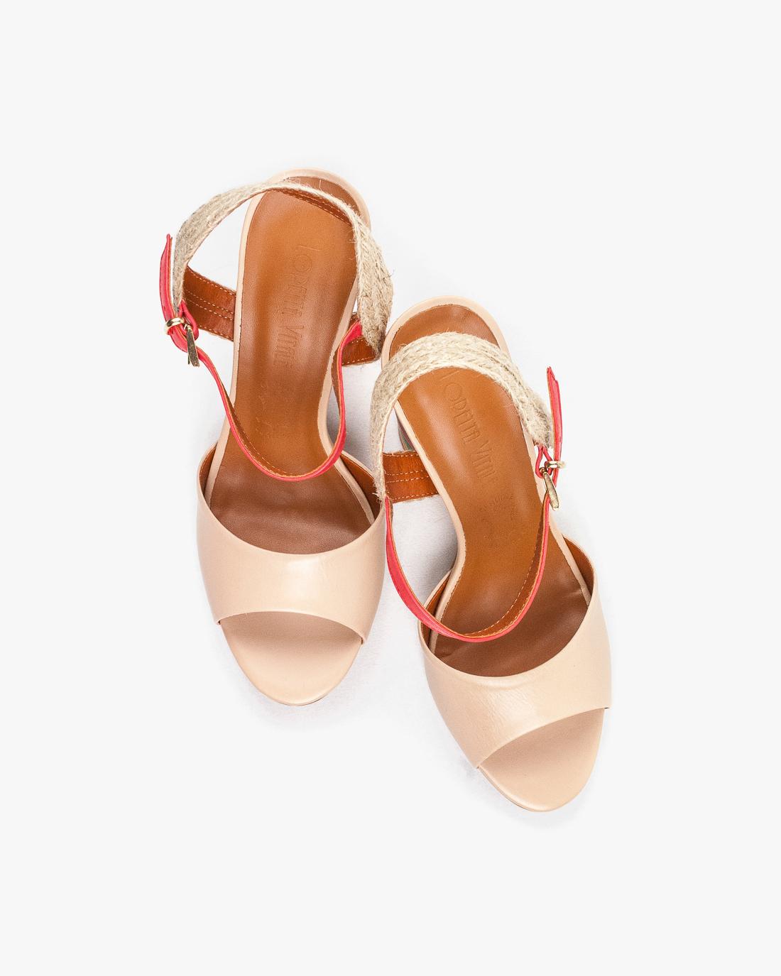 89a952679280b Wielokolorowe sandały damskie skórzane