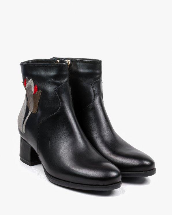 Czarne botki damskie 2425/A89/952/D83/D84