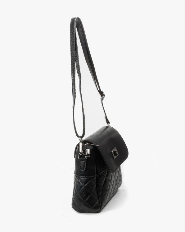 Skórzana torebka damska RBS/16198/CZARNY