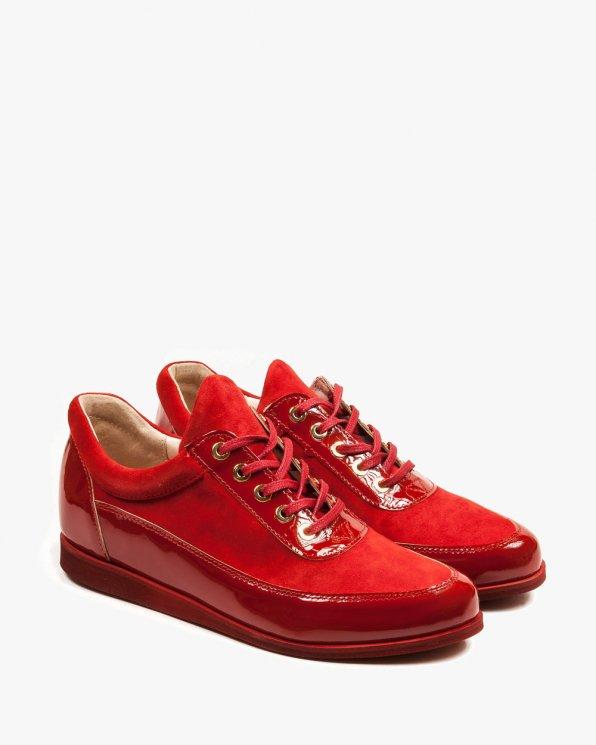 Czerwone adidasy damskie skórzane 2105/539/955