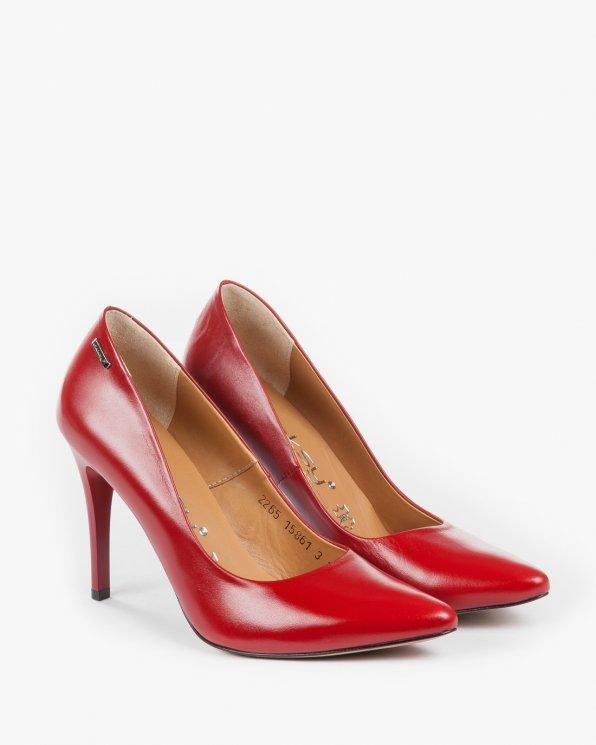 Czółenka czerwone damskie skórzane 2265/200