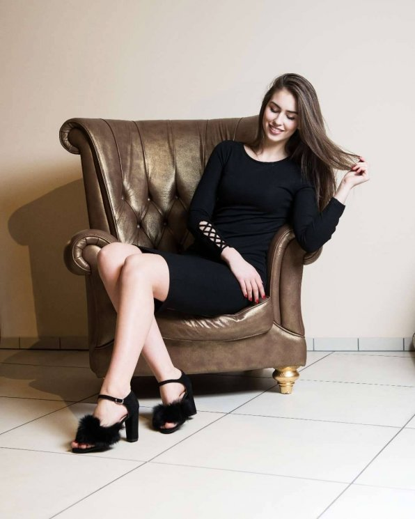 Sandały czarne damskie skórzane 2447/147