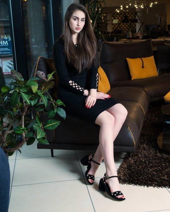 Czarne sandały damskie skórzane 2459/147