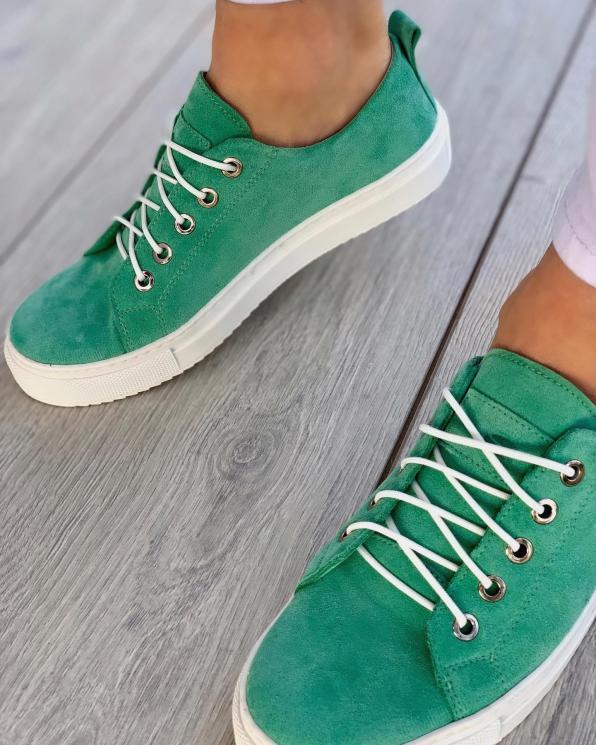 Zielone trampki damskie skórzane 3164/G70