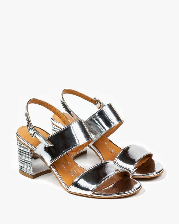 Srebrne sandały damskie skórzane 2481/120