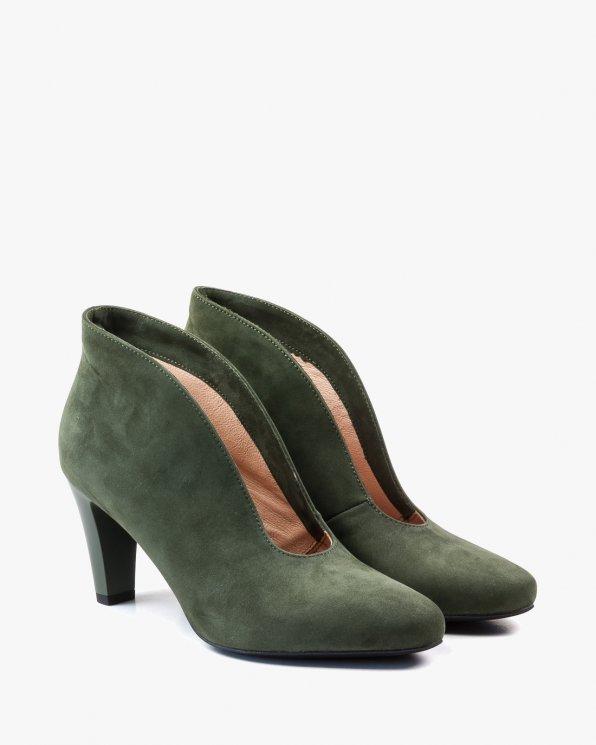 Zielone botki damskie skórzane 2115/D57