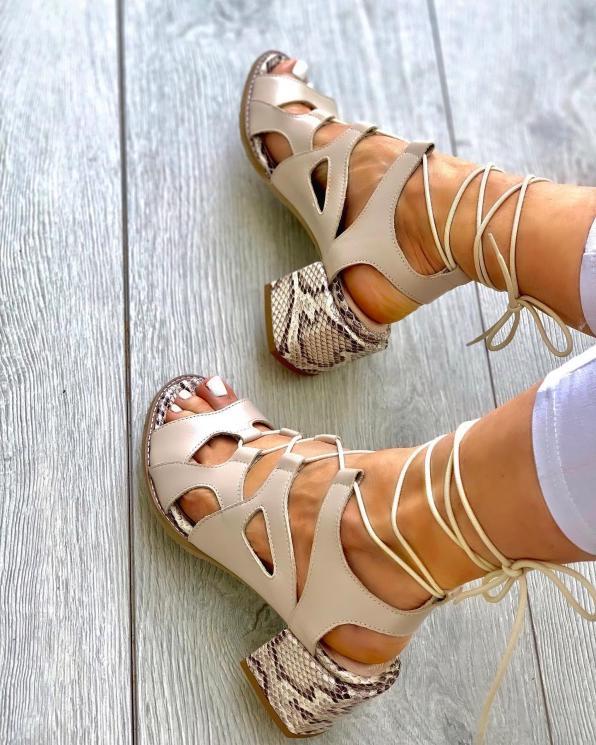 Sandały damskie skórzane 3511/F67/F66