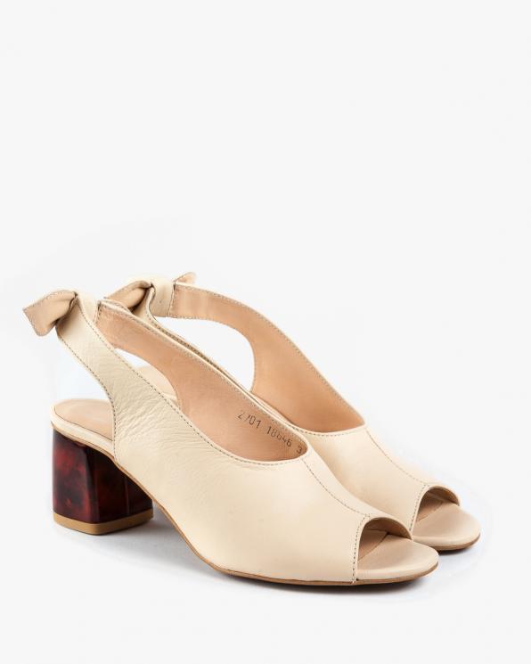 Beżowe sandały damskie skórzane 2701/E18