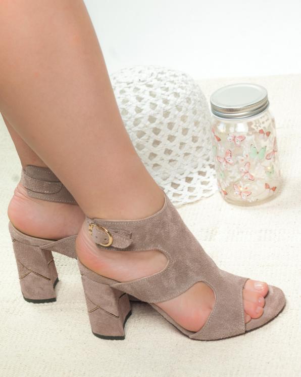 Beżowe sandały damskie skórzane 2824/E26