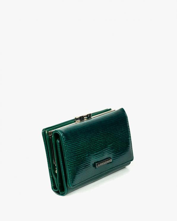 Zielony portfel damski skórzany GRELN-107/ZIELONY