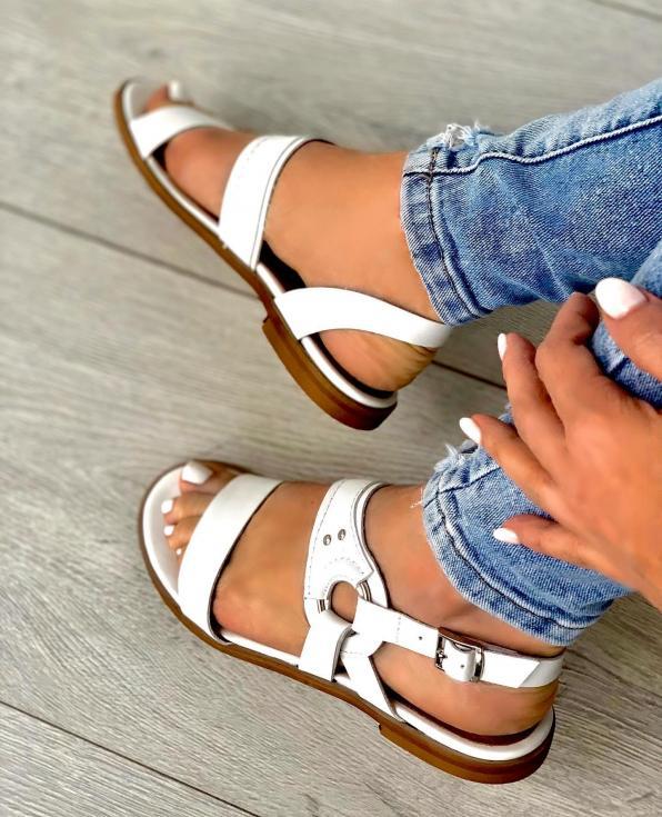 Białe sandały damskie skórzane 3565/534