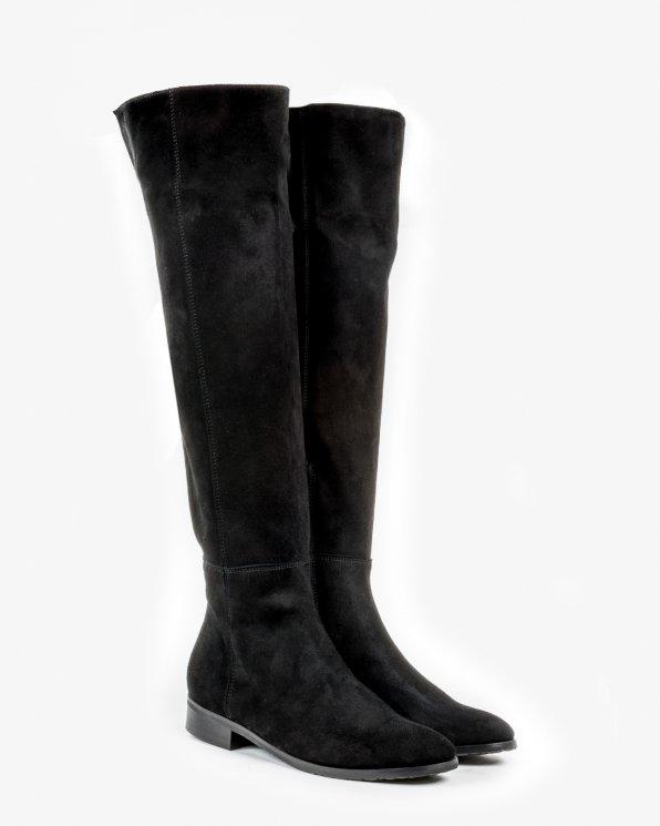 Kozaki czarne damskie skórzane 2166/147