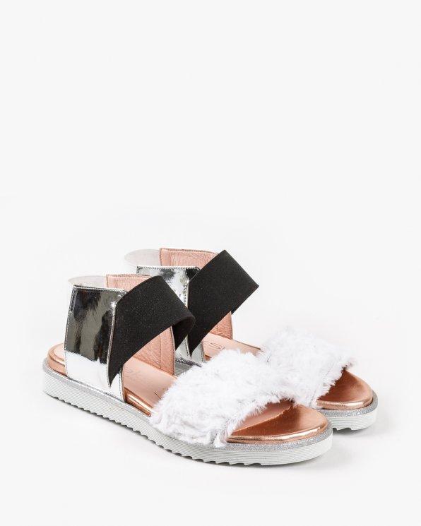 Wielokolorowe sandały damskie skórzane 2504/D69/D19