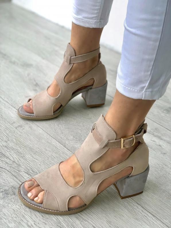 Sandały damskie skórzane 3325/E99/952