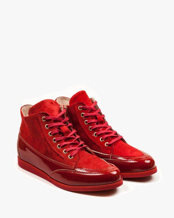 Czerwone sneakersy damskie skórzane 2104/539/955
