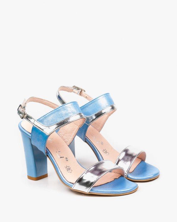 Niebieskie sandały damskie skórzane 2290/C80/120