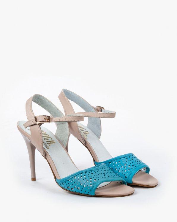 Niebiesko beżowe sandały skórzane 2026/866/999