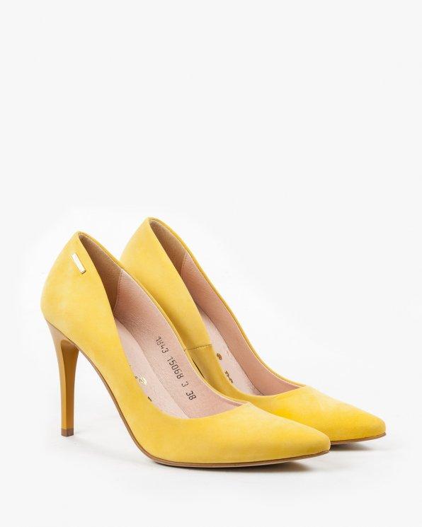 Żółte czółenka damskie skórzane 1843/765