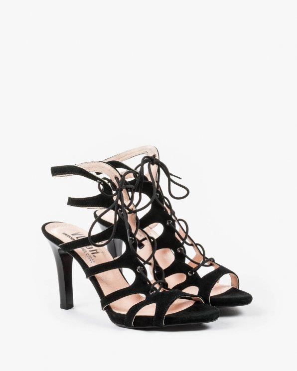 Czarne sandały damskie skórzane 2154/147