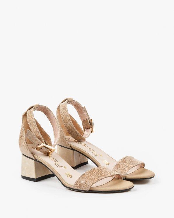Beżowe sandały damskie skórzane 2148/A02