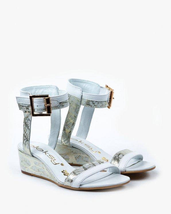 Białe sandały damskie skórzane 2149/534/B94