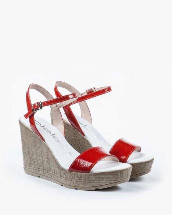 Czerwone sandały damskie skórzane 2094/769