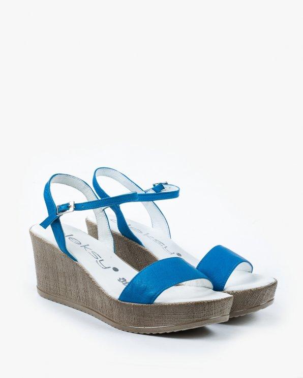 Sandały niebieskie damskie skórzane 2097/764