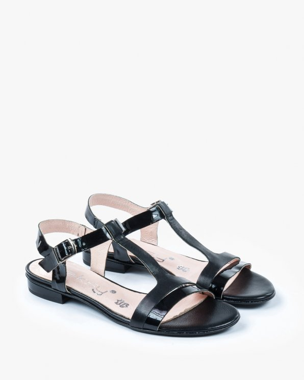 Czarne sandały damskie skórzane 2000/532/542
