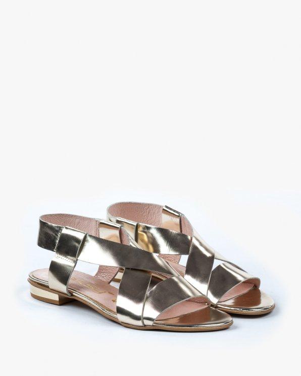 Złote sandały damskie skórzane 2157/A38