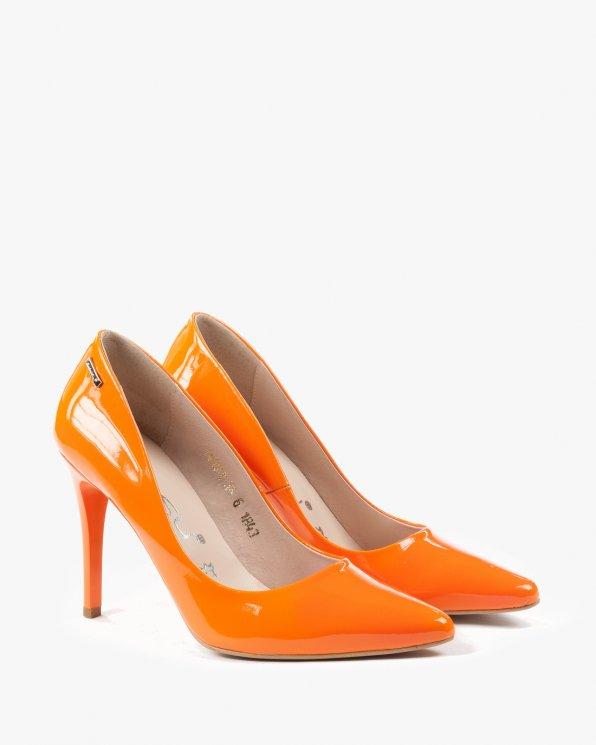Pomarańczowe czółenka damskie skórzane 1843/878