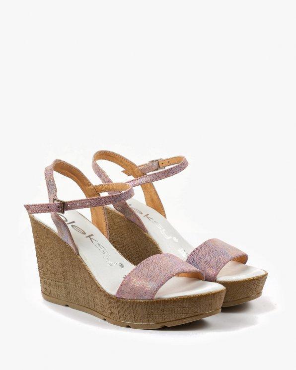 Różowe sandały damskie skórzane 2094/A72