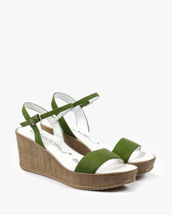 Zielone sandały damskie skórzane 2097/767