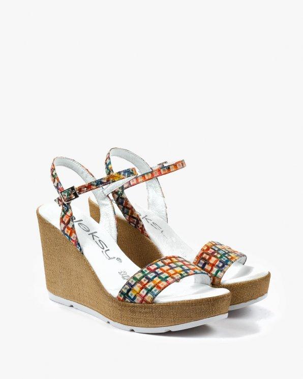Wielokolorowe sandały damskie skórzane 2094/A25