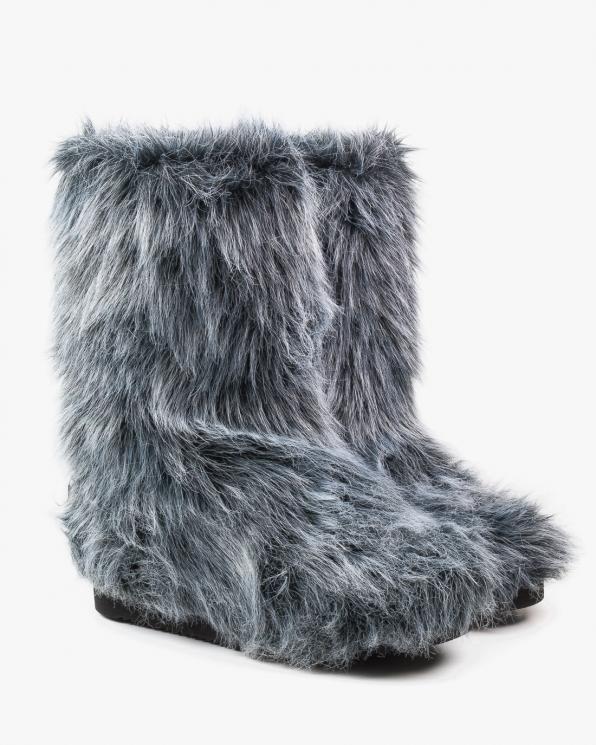 Śniegowce szare damskie. futro 2488/D81