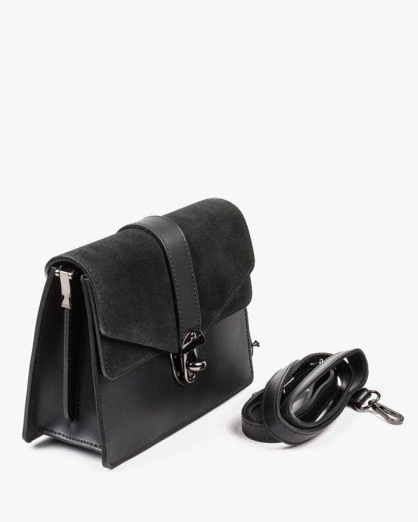 Skórzana torebka damska RBSA160/CZARNY
