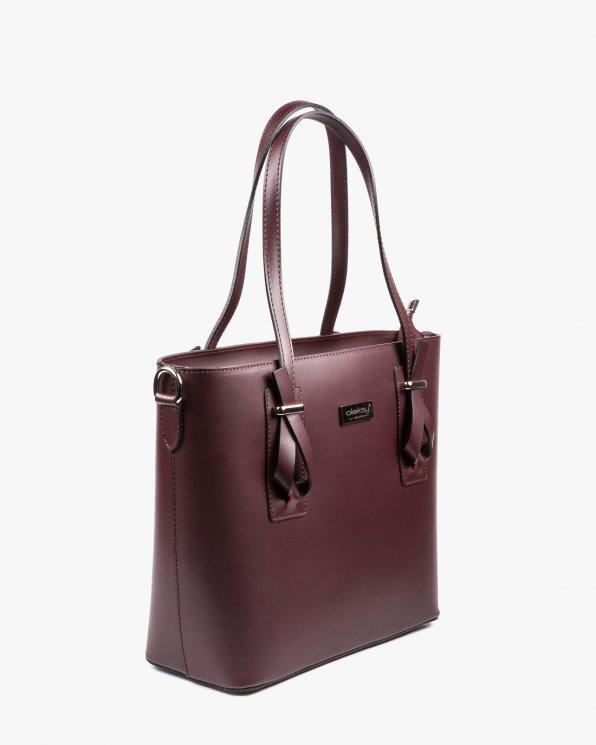 Skórzana torebka damska RBS16157/BORDO