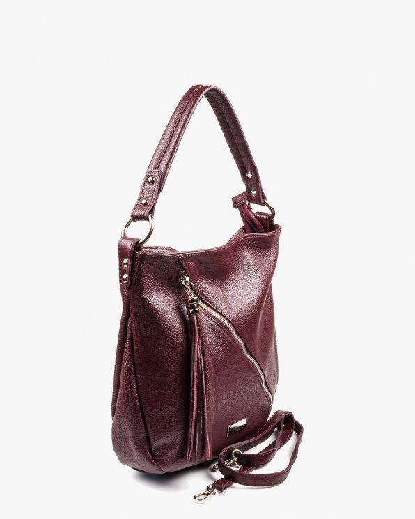 Skórzana torebka damska RBSA229/BORDO