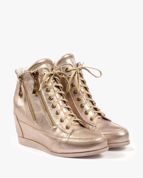 Złote sneakersy damskie skórzane 2111/C04