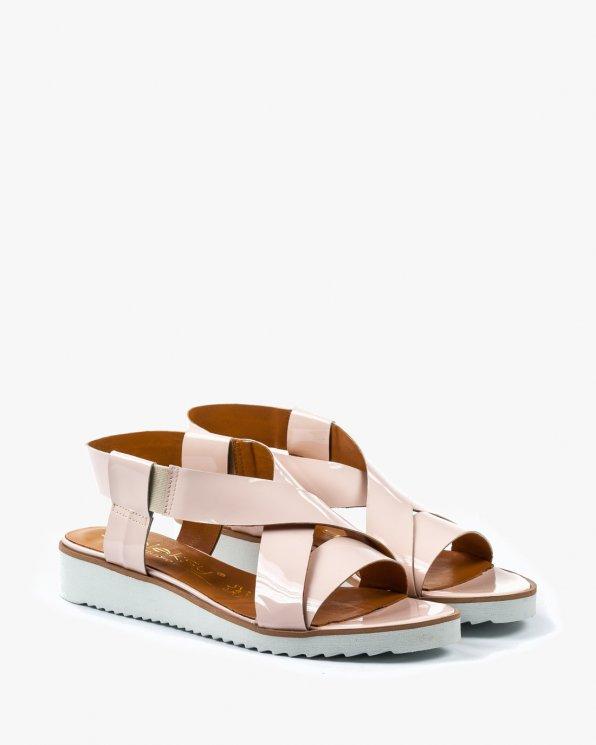 Różowe sandały damskie skórzane 2135/661