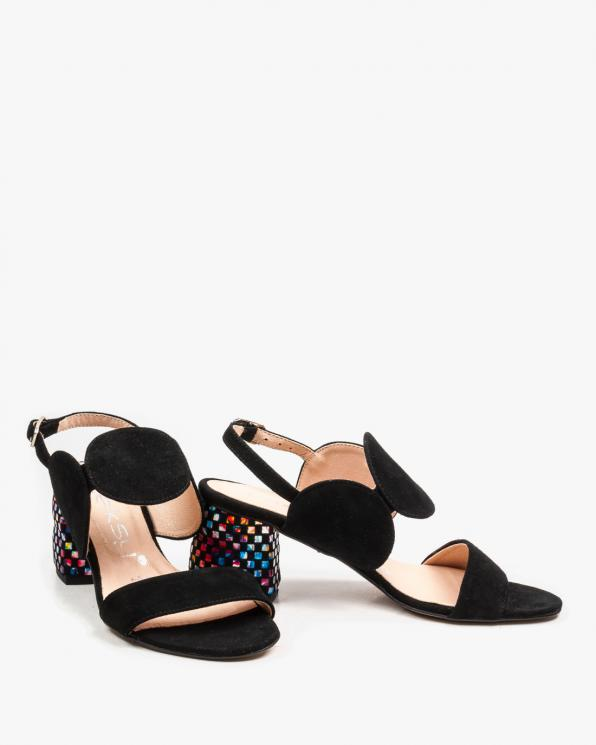 Czarne sandały damskie skórzane 2292/147/E43