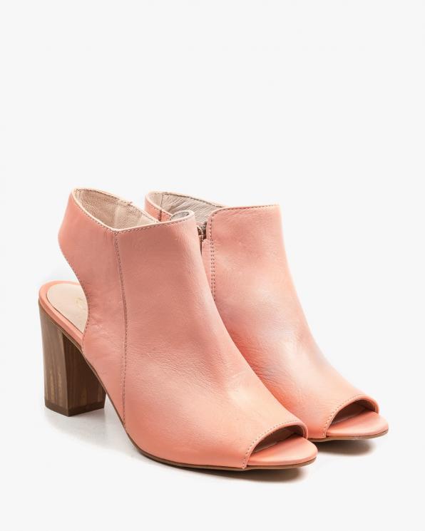 Różowe sandały damskie skórzane 2734/E30