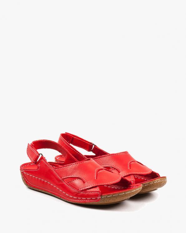 Czerwone sandały damskie skórzane EXI205/RED