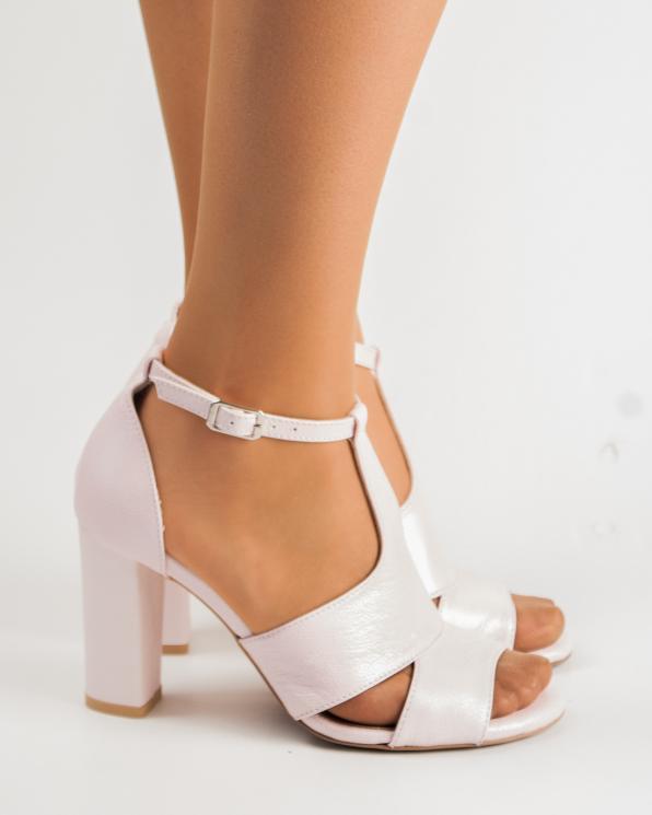 Różowe sandały damskie skórzane 2294/E50/E68