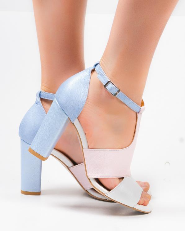 Wielokolorowe sandały damskie skórzane 2294/E48/E50/E51/E54