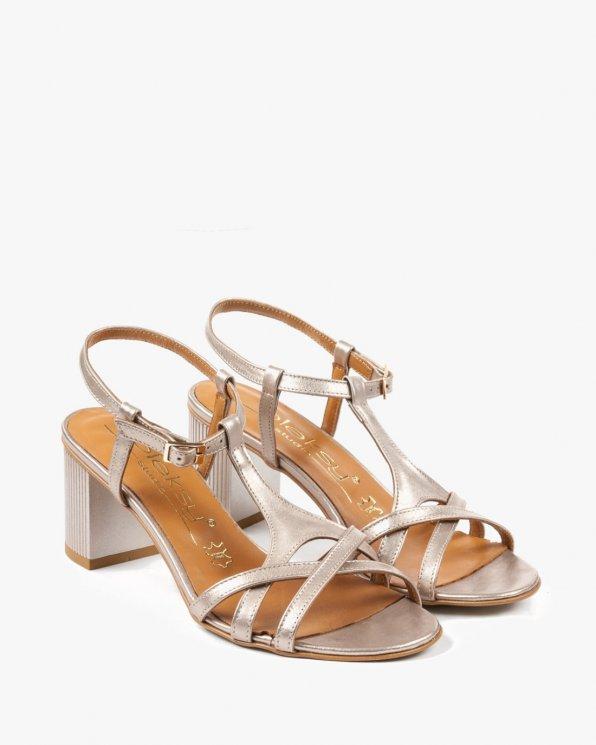 Złote sandały damskie skórzane 2288/C04