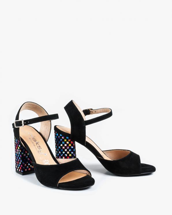 Czarne sandały damskie skórzane 2692/147/E43