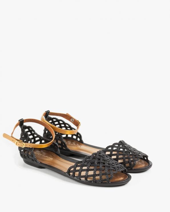 Czarne sandały damskie KON760000/BLACK
