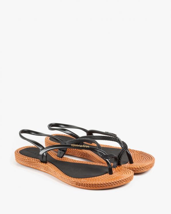Brązowo czarne sandały damskie KON260100/BLACK/CARM
