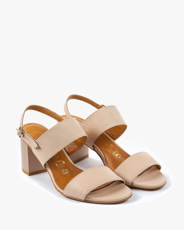 Beżowe sandały damskie skórzane 2340/B19