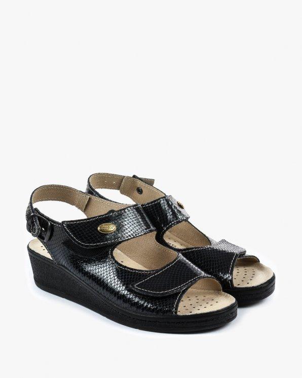 Sandały czarne damskie skórzane EXI696/1/BLACK